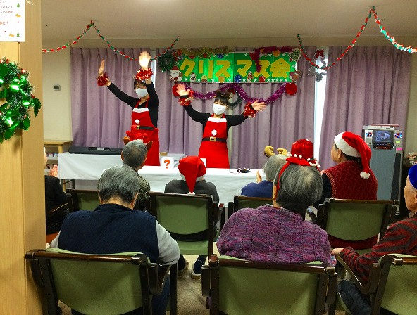 ひなの家でクリスマス会が行われました。