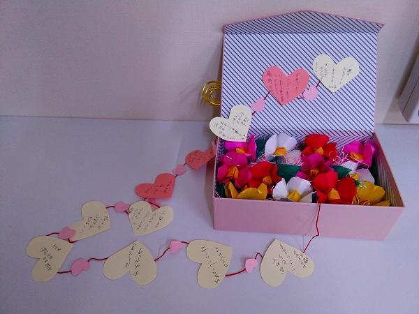 橋本社長へメッセージボックスをプレゼント